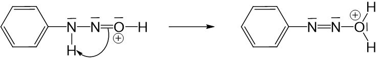 Anilinmoleküls an positiver Ladung des Nitrosylkations 3