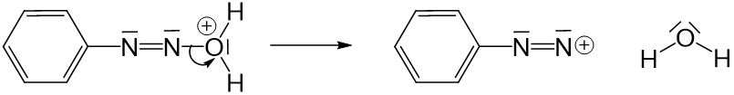 Anilinmoleküls an positiver Ladung des Nitrosylkations 4
