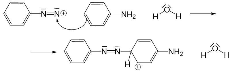 Anilinmoleküls an positiver Ladung des Nitrosylkations 5