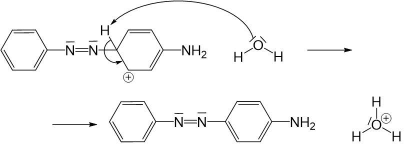 Anilinmoleküls an positiver Ladung des Nitrosylkations 6