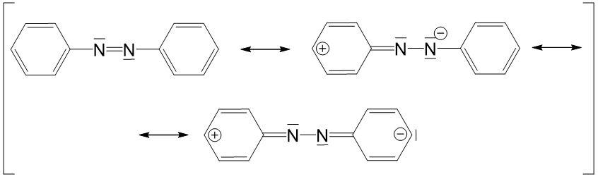 Azofarbstoffe mesomere Grenzstrukturen