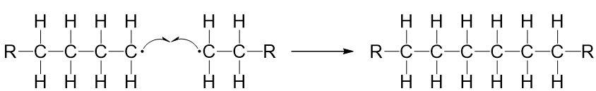Kettenabbruch Polymerisation 2 Radikale