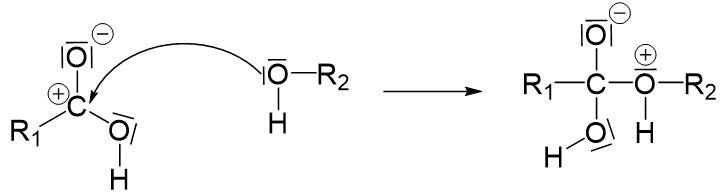 Nucleophile Substitution Carbonsäure Ausgleich positiver Ladung