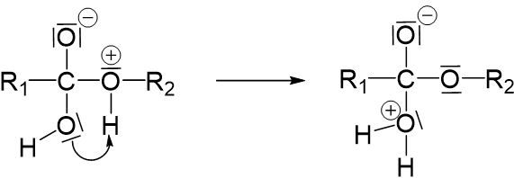 Protonwanderung Nucleophile Substitution Wasser Abspaltung