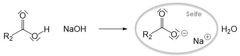Saure Verseifung Reaktion 3