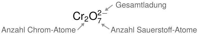 Bestimmen der Oxidationszahl
