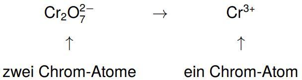 Mengenausgleich der oxidierten bzw. reduzierten Teilchen