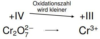 Oxidation bestimmen